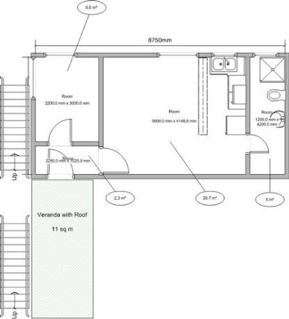 Simple sedie vista mare le due camere hanno un unico - Larghezza scala interna ...